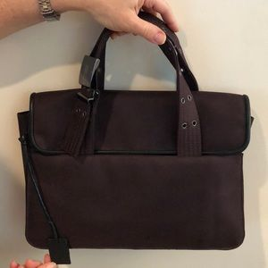 MISSONI Brown Canvas Bag with Metal Accent